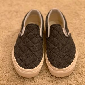 Gray Quilted Vans from Madewell